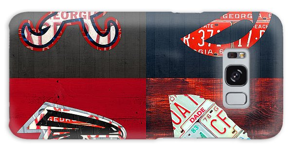 Atlanta Sports Fan Recycled Vintage Georgia License Plate Art Braves Hawks Falcons Plus State Map Galaxy Case