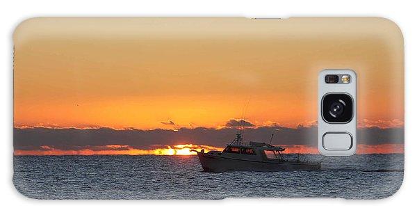 Atlantic Ocean Fishing At Sunrise Galaxy Case