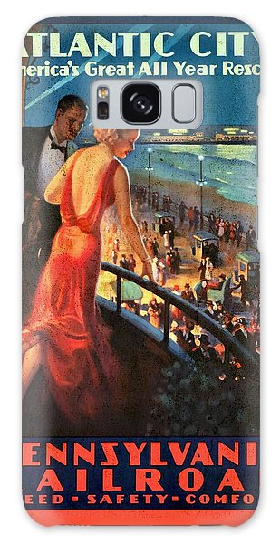 Atlantinc City - America's Great All Year Resort - Vintage Poster Vintagelized Galaxy Case