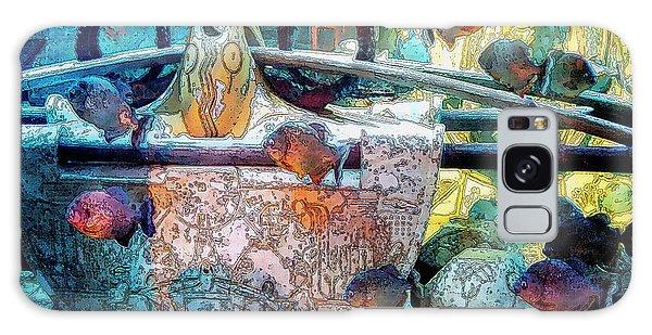 Bahamas Galaxy Case - Atlantis Aquarium In Watercolor by DigiArt Diaries by Vicky B Fuller