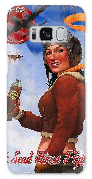 Atom Bomb Cola Send Thirst Flying Galaxy Case by Steve Goad