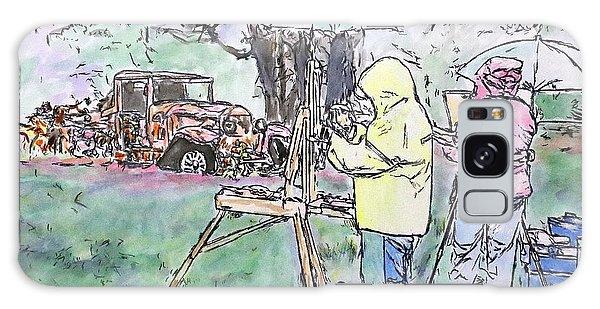 Old Truck Galaxy Case - Au Plein Air by Michele A Loftus