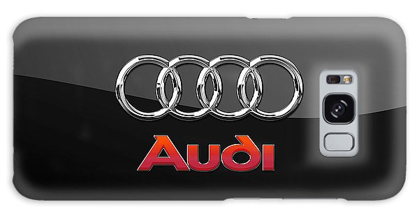Sports Galaxy Case - Audi 3 D Badge On Black by Serge Averbukh