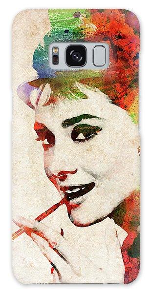 Audrey Hepburn Colorful Portrait Galaxy Case