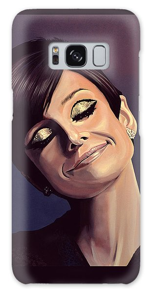 Actors Galaxy S8 Case - Audrey Hepburn Painting by Paul Meijering