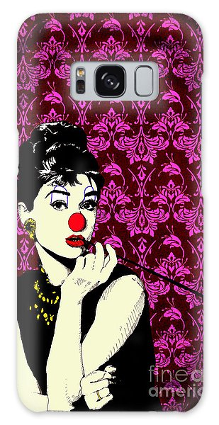 Audrey On Purple Galaxy Case by Jason Tricktop Matthews