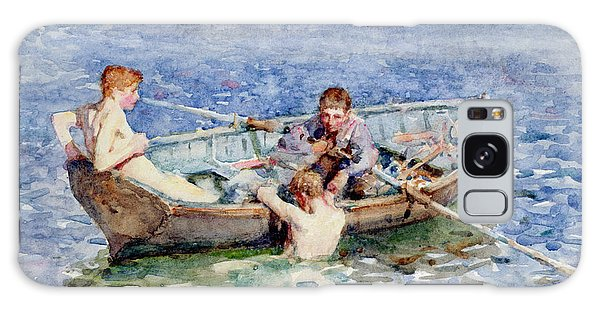 Boat Galaxy S8 Case - August Blue by Henry Scott Tuke