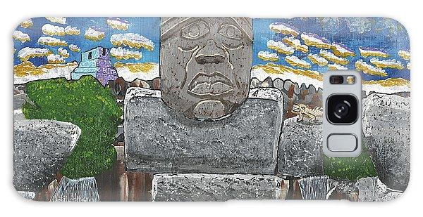 August  Olmec Head Galaxy Case