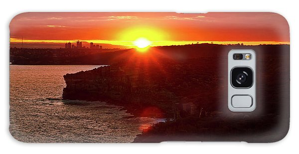 August Sunset From North Head Galaxy Case
