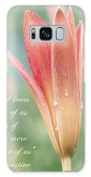 Augustine Quote God Loves Each Of Us With Opening Lily Galaxy Case