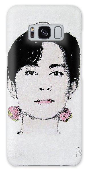 Aung San Suu Kyi Galaxy Case by Roberto Prusso