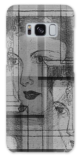 Aunt Edie Black And White Print Galaxy Case