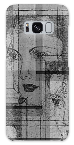 Aunt Edie Black And White Print Galaxy Case