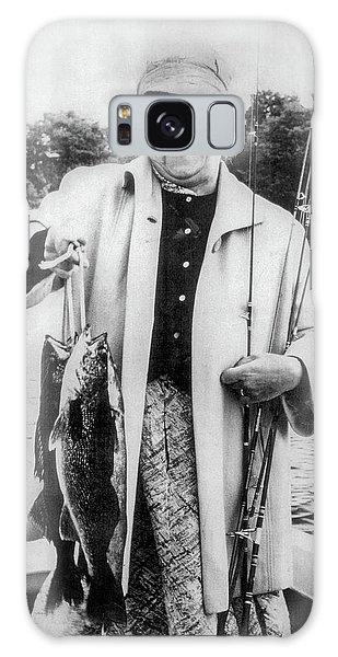 Aunt Grace Fishing Galaxy Case