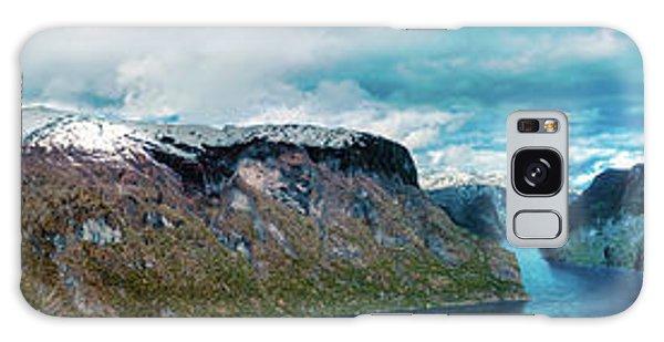 Aurlandsfjorden Panorama Revisited Galaxy Case