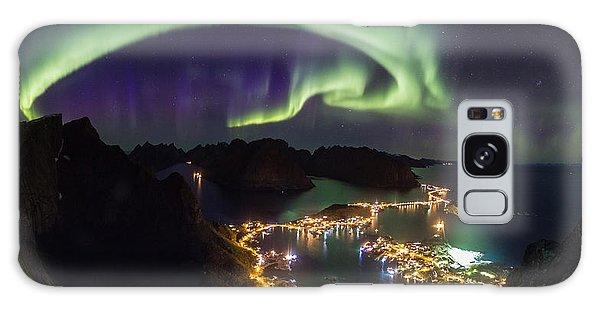 Aurora Above Reine Galaxy Case