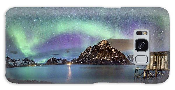 Aurora Above Reinefjord Galaxy Case
