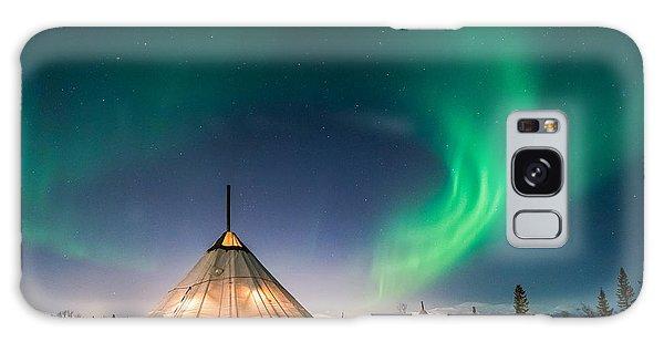 Aurora Above Sami Tent Galaxy Case by Alex Conu