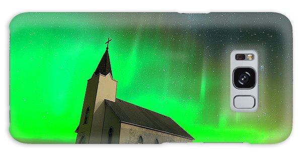 Aurora And Country Church Galaxy Case by Dan Jurak