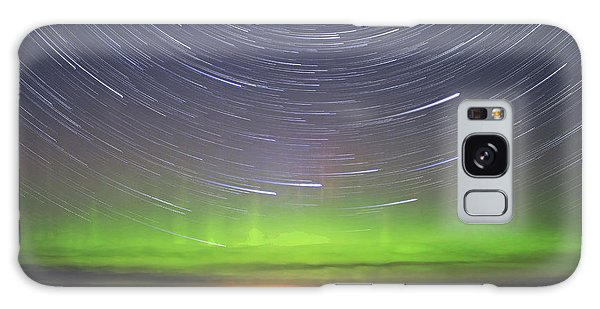Aurora And Startrails Galaxy Case by Charline Xia