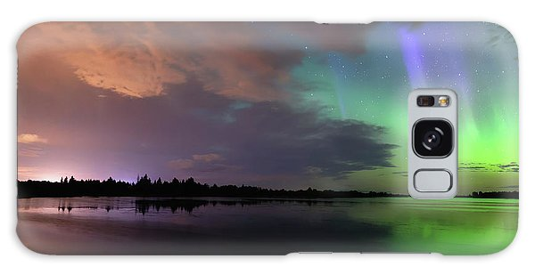 Aurora And Storm Clouds Galaxy Case