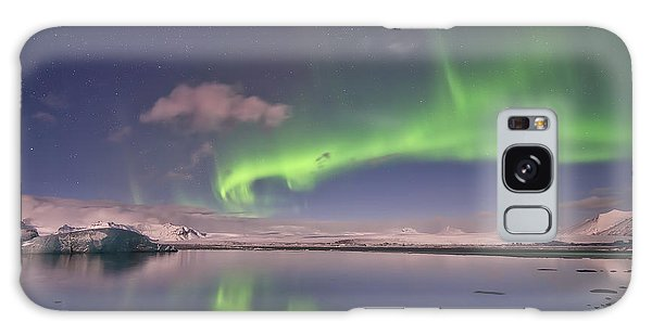 Aurora Borealis And Reflection #2 Galaxy Case