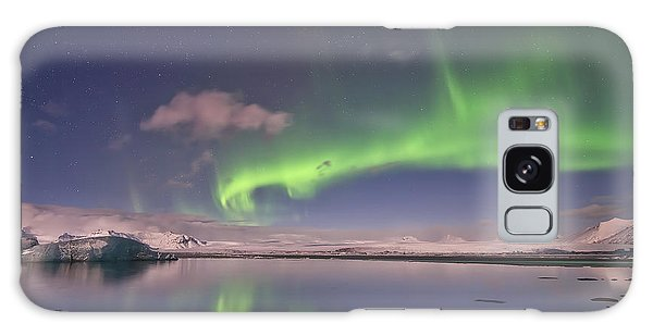 Aurora Borealis And Reflection #2 Galaxy Case