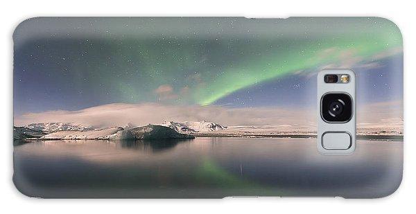 Aurora Borealis And Reflection Galaxy Case