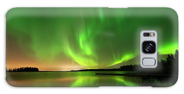 Aurora Borealis At Elk Island National Park Galaxy Case