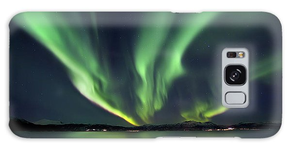 Galaxy Case featuring the photograph Aurora Borealis Over Tjeldsundet by Arild Heitmann