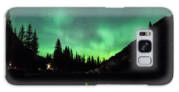 Aurora On Moraine Lake Galaxy Case