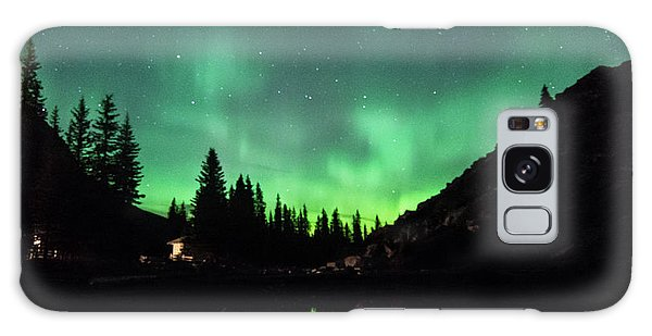 Aurora On Moraine Lake Galaxy Case