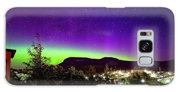 Aurora Over Mt Wellington, Hobart Galaxy Case