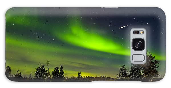 Aurora With Meteor  Galaxy Case