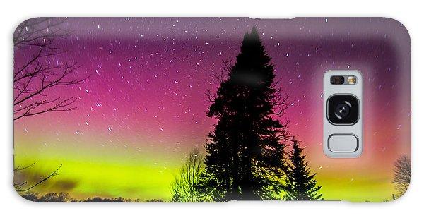 Aurora With Spruce Tree Galaxy Case by Tim Kirchoff