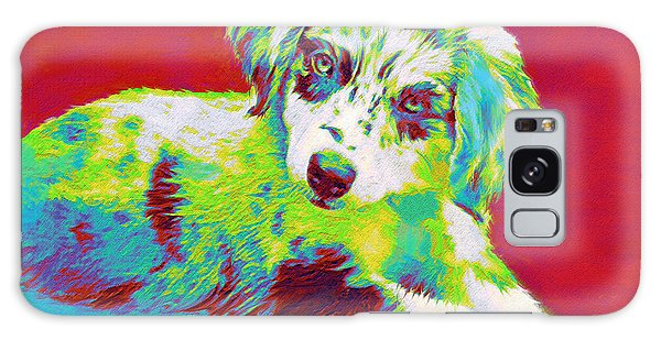 Aussie Puppy Galaxy Case by Jane Schnetlage