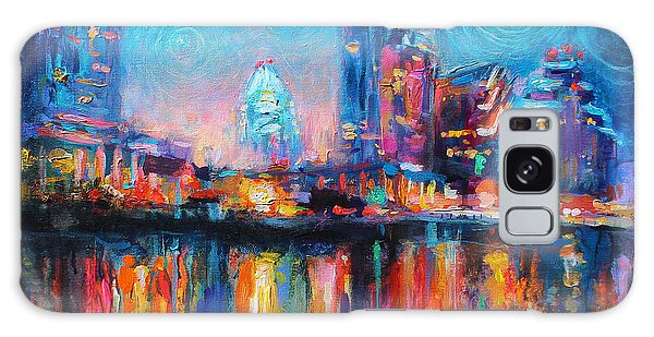 Austin Art Impressionistic Skyline Painting #2 Galaxy Case