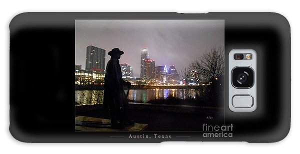 Austin Hike And Bike Trail - Iconic Austin Statue Stevie Ray Vaughn - One Greeting Card Poster Galaxy Case