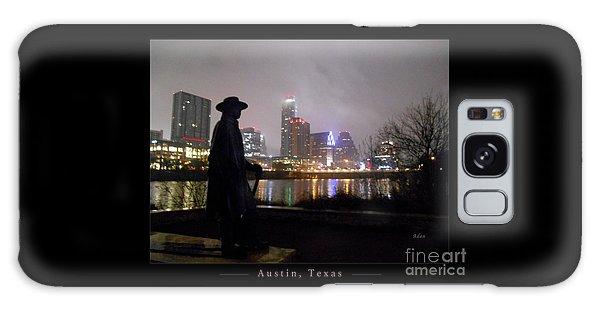 Austin Hike And Bike Trail - Iconic Austin Statue Stevie Ray Vaughn - One Greeting Card Poster Galaxy Case by Felipe Adan Lerma