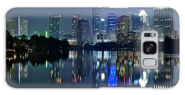 Austin Night Reflection Galaxy Case by Frozen in Time Fine Art Photography