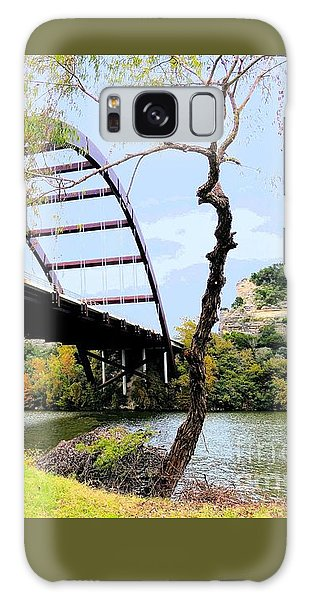 Austin Pennybacker Bridge In Autumn Galaxy Case