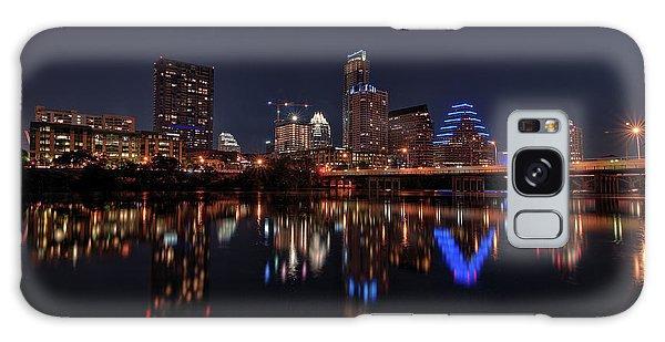 Austin Skyline At Night Galaxy Case