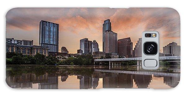 Austin Skyline Sunrise Reflection Galaxy Case