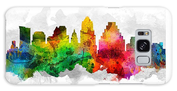 Austin Texas Cityscape 12 Galaxy Case by Aged Pixel