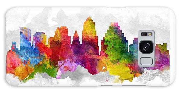 Austin Texas Cityscape 13 Galaxy Case by Aged Pixel
