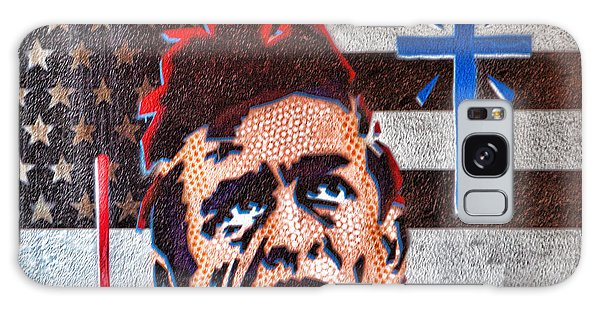 Austin Texas Johnny Cash Mural Galaxy Case by Linda Phelps