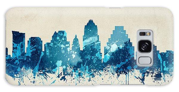 Austin Texas Skyline 20 Galaxy Case by Aged Pixel