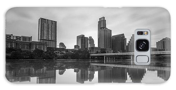 Austin Texas Skyline Reflecting In Ladybird Lake Long Exposure Galaxy Case