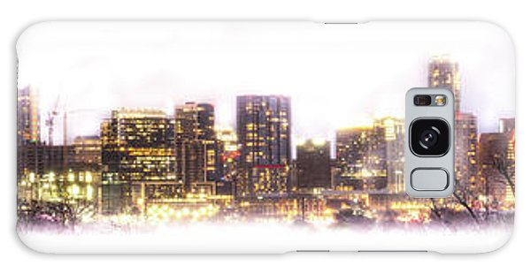 Austin Texas Skyline With White Blackground  Galaxy Case
