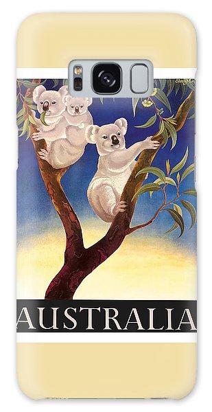 Koala Galaxy Case - Australia Koala Vintage World Travel Poster By Eileen Mayo by Retro Graphics
